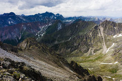 Peaks of the mountains in summer Royalty Free Stock Photos