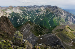Peaks of the mountains in summer Royalty Free Stock Photography