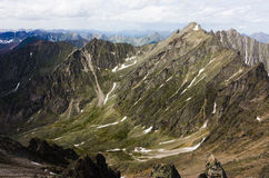 Peaks of the mountains in summer Stock Images