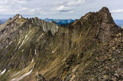 Peaks of the mountains in summer Royalty Free Stock Image