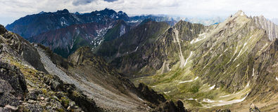 Peaks of the mountains in summer Royalty Free Stock Photo