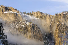 Peaks of the mountains in Yosemite National Park Stock Photography