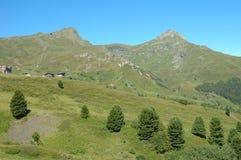 Peaks nearby Kleine Scheidegg in Alps in Switzerland Royalty Free Stock Photos