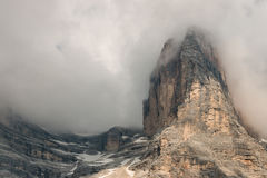 Peaks obscured by clouds Stock Image