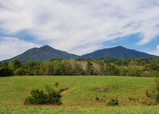 Peaks of Otter. A rural view of the Peaks of Otter located in Bedford County, Virginia, USA Royalty Free Stock Photography