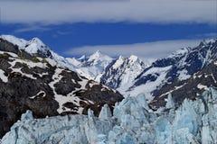 Peaks and Peaks. Glacial peaks against mountain peaks.  Shot in Alaska Royalty Free Stock Photo