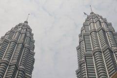 Peaks of Petronas KLCC twin towers, Stock Photography