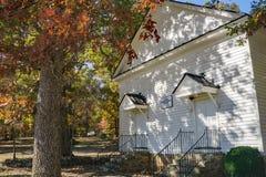 Peaks Presbyterian Church, Bedford County, Virginia, USA. Bedford County, VA – Nov 4th: Autumn view of the Peaks Presbyterian Church est. 1761 at the base stock photos
