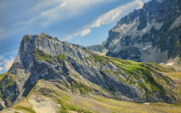 Peaks in Pyrenees Mountains Stock Photo