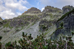 Peaks at Rila mountain, Bulgaria. Daytime summer scenery of Rila mountain, Bulgaria Stock Photos