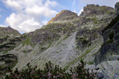 Peaks at Rila mountain, Bulgaria. Daytime summer scenery of Rila mountain, Bulgaria Royalty Free Stock Photography