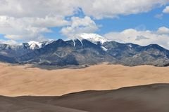 Peaks and Sand Dunes Stock Photos