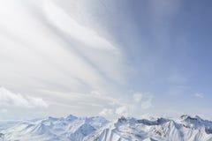 Peaks stretching far beyond the horizon Royalty Free Stock Photography