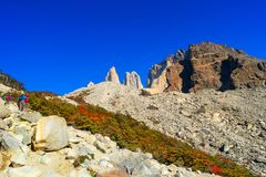 Peaks of Torres del Paine, National Park, Patagonia. Chile stock image