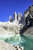 Peaks of Torres del Paine, National Park, Patagonia. Chile royalty free stock photography