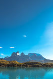 Peaks of Torres del Paine, National Park, Patagonia. Chile stock photography