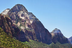 Peaks in the Zion Canyon National Park, Utah Stock Images