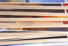 Peal of magazines Stock Images