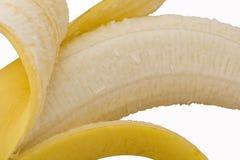 Pealed Banana. Cut out peeled banana close up royalty free stock photo