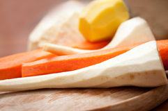 Pealed vegetables Stock Images