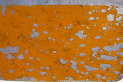 Pealing yellow paint on metal Royalty Free Stock Image