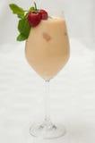 Peand et smoothie de fraise Photographie stock