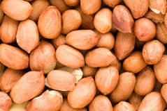 Peanut. Spilled peanuts. View from the top Royalty Free Stock Photos