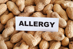 Peanut allergy Stock Photo