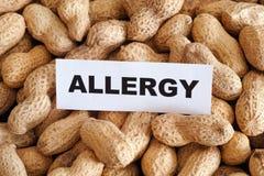 Peanut allergy Stock Photo