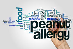 Peanut allergy word cloud Stock Photography