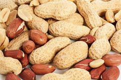 Peanut background Stock Images
