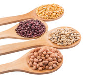 Peanut, Bean And Lentils IV Royalty Free Stock Photos