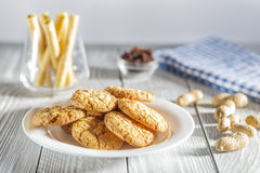 Peanut biscuits Royalty Free Stock Image
