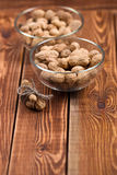 The peanut in a bowl Stock Photos