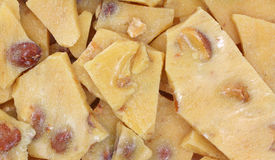 Peanut brittle close view Royalty Free Stock Photo