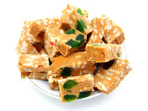 Peanut brittle isolated Royalty Free Stock Photos