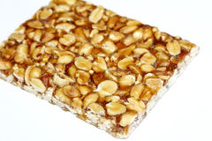 Peanut brittle isolated on white background Royalty Free Stock Photo