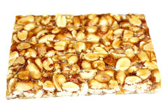 Peanut brittle isolated on white background Stock Photo