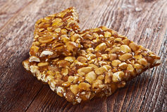 Peanut brittle sweet hard Stock Images