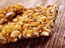 Peanut brittle sweet hard Royalty Free Stock Photo