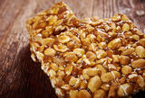 Peanut brittle sweet hard Royalty Free Stock Photography