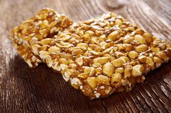 Peanut brittle sweet hard Stock Photos