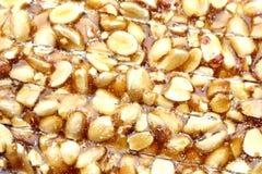 Peanut brittle  on white background Stock Image