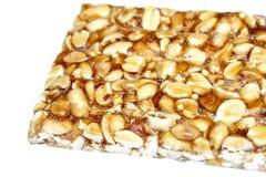 Peanut brittle  on white background Stock Photos