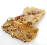 Peanut Brittle. On White Background royalty free stock photo