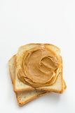 Peanut Butter. Delicious peanut butter on toast Stock Image