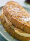 Peanut Butter And Banana Eggy Bread Sandwich Stock Images