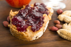 Peanut Butter And Jelly Sandwich Stock Images
