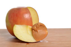 Peanut Butter Apple Stock Photography