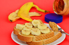 Peanut Butter and Banana Royalty Free Stock Photo